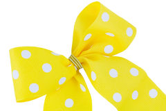 Yellow and white bow Stock Photography