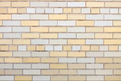 Yellow and white brick wall Royalty Free Stock Photo