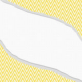Yellow and White Chevron  Zigzag Frame with Torn Background Royalty Free Stock Photo