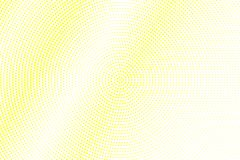 Yellow white dotted halftone. Smooth diagonal halftone  background. Golden dotted gradient. Retro futuristic texture. Yellow dot on transparent backdrop Royalty Free Stock Photo
