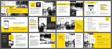 Yellow and white element for slide infographic on background. Pr. Esentation template. Use for business annual report, flyer, corporate marketing, leaflet Royalty Free Stock Images