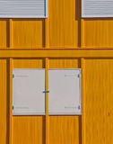 Yellow and white facade. Of a building in the Netherlands Royalty Free Stock Photo