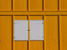 Yellow and white facade. Of a building in the Netherlands Royalty Free Stock Photography