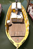 Yellow and White Fishing Boat Royalty Free Stock Photography