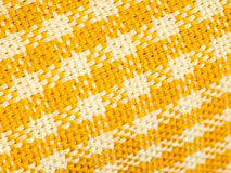 Yellow and White Gingham Macro Detail Royalty Free Stock Photography