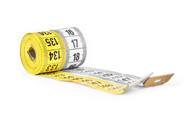Yellow and white  measuring tape Stock Photos