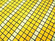 Yellow and White Mosaic tiles Stock Photo