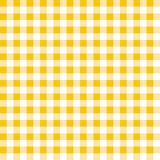 Yellow and white plaid vector background. Seamless repeat checkered pattern stock illustration