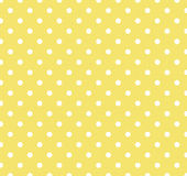 Yellow with white polka dots Royalty Free Stock Photography