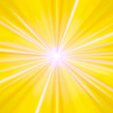 Yellow and white rays Stock Photo