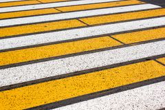 Yellow and white stripes Royalty Free Stock Photography