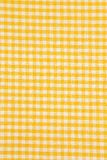Yellow and white tablecloth backgrounds. Detail of yellow and white checkered tablecloth backgrounds Stock Photo