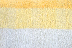 Yellow-White Terry Towel Stock Photo