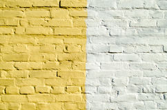 Yellow white wall. From a brick royalty free stock image