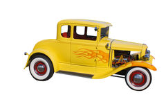 Yellow whitewall hotrod Stock Photos