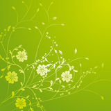 Yellow wild flower and vines pattern Stock Photo