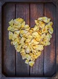 Yellow wilted rose petals Royalty Free Stock Image