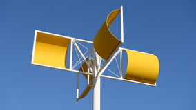 Yellow wind turbines stock video footage