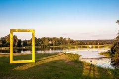 Yellow window stock photos