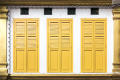 Yellow window doors Stock Photography