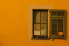 Yellow Window Provence Stock Photography