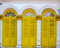 Yellow Windows Stock Photography