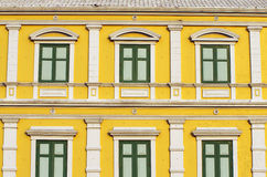 Yellow windows wall Stock Image