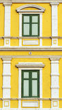 Yellow windows wall Royalty Free Stock Image