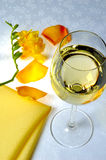 Yellow and wine Royalty Free Stock Photo