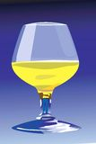 Yellow wine in glass Stock Photography