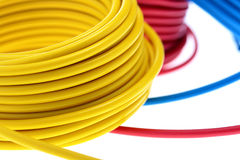 Yellow wire Stock Photo