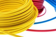 Yellow wire Stock Photo