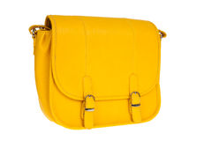 Yellow women bag Stock Images
