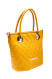 Yellow womens bag isolated on white background. Stock Photography