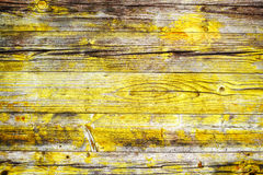 Yellow wood background Royalty Free Stock Images