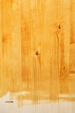 Yellow wood board texture painted with acrylic paint Royalty Free Stock Photos