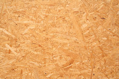 Yellow wood chipboard as background Royalty Free Stock Photography