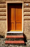 Yellow wood door Stock Photos