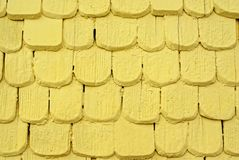 Yellow Wood Shingles Royalty Free Stock Image