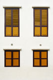 Yellow Wood Windows Royalty Free Stock Photos