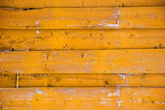 Yellow Wooden Background With Copy Space Stock Photography