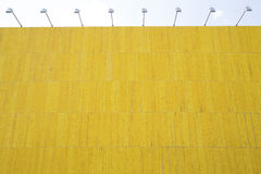 Yellow wooden billboard Royalty Free Stock Photo