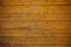 Yellow wooden board texture Royalty Free Stock Photography
