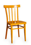 Yellow wooden chair Stock Photos