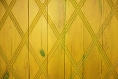 Yellow wooden door with pattern. Door in the cyprus village royalty free illustration
