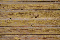 Yellow wooden fence surface texture Stock Image