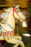 Yellow wooden horse Royalty Free Stock Photos