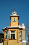 Yellow wooden house Royalty Free Stock Photo