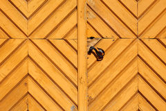 Yellow wooden house gate Royalty Free Stock Photography