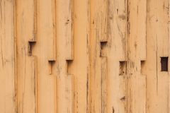 Yellow wooden old plank background. Old wooden texture.  royalty free stock images